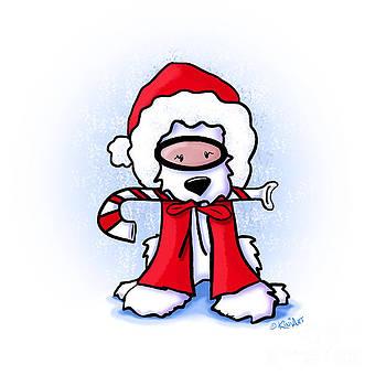 KiniArt Snorkel Westie Santa by Kim Niles