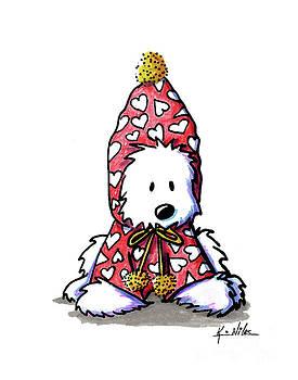 KiniArt Snowbunny Westie by Kim Niles