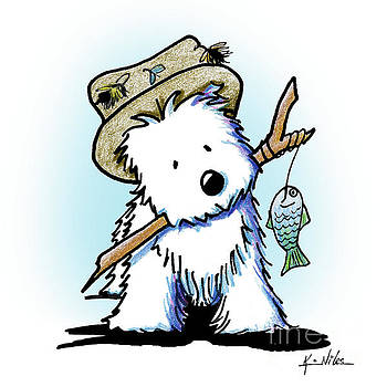 KiniArt Westie Fisherman by Kim Niles