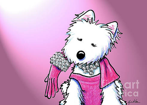 KiniArt Westie Glam by Kim Niles