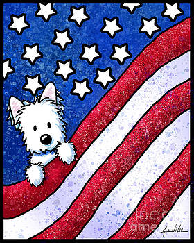 KiniArt Westie Patriot by Kim Niles