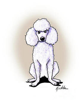 KiniArt White Poodle by Kim Niles