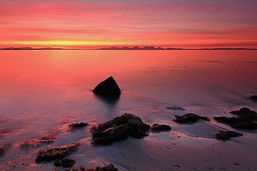 Kintyre Rocky Sunset 2 by Grant Glendinning