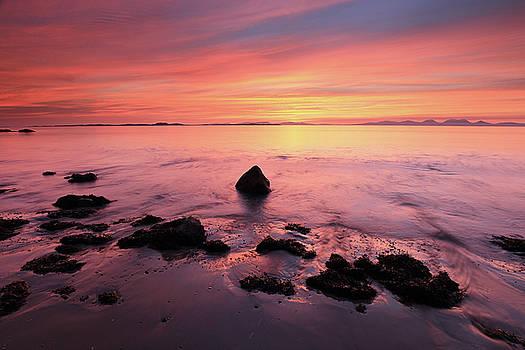 Kintyre Rocky Sunset by Grant Glendinning