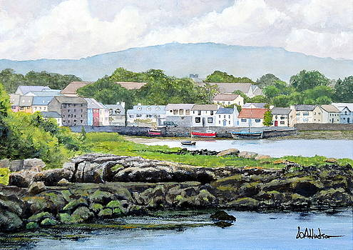 Kinvara from Dunquaire Castle by Bill Hudson