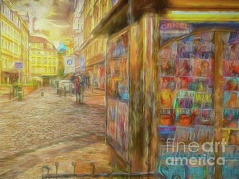Kiosk - Prague street scene by Leigh Kemp