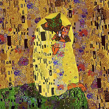 Kiss Klimt Cats by Notsniw Art