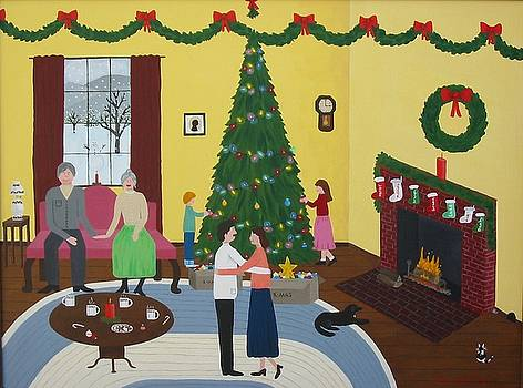 Kissing Under The Mistletoe by Susan Houghton Debus