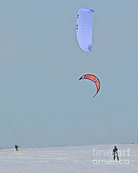 Kite Snowboarding by Kathy M Krause
