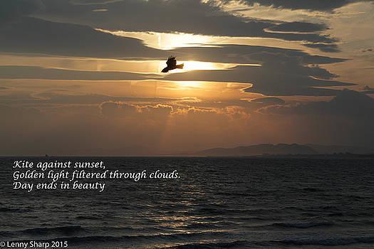 Leonard Sharp - Kite sunset - Haiku