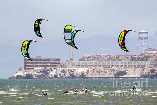 Chuck Kuhn - Kite Surfing Alcatraz Prison