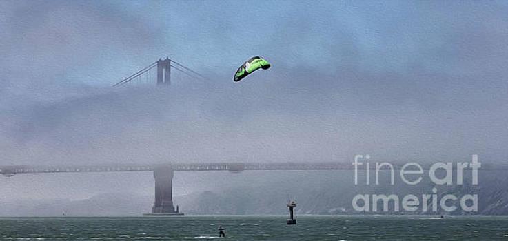Kite Surfing California  by Chuck Kuhn