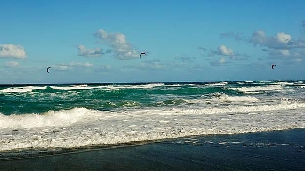 Kite Surfing by John Wartman