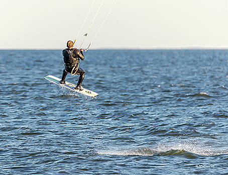 Kite Surfing Jump by Brian Wallace