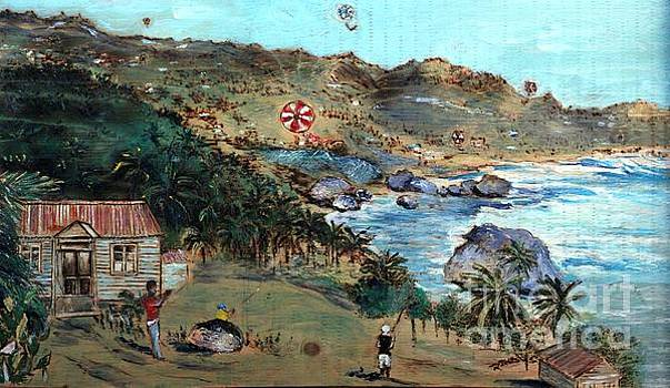 Kites at Bathsheba by Richard Jules
