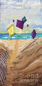 Sharon Williams Eng - Kites on the Beach
