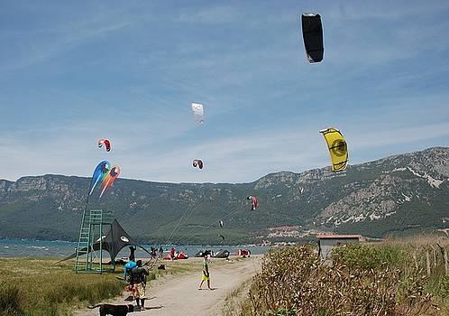 Tracey Harrington-Simpson - Kitesurfing at Akcapinar Gokova Akyaka Turkey