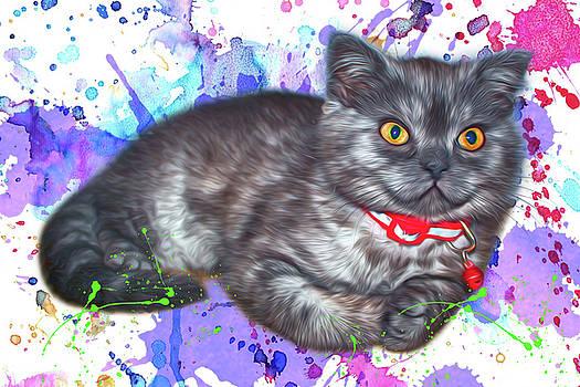 Kitten-paint by Tatiana Tyumeneva