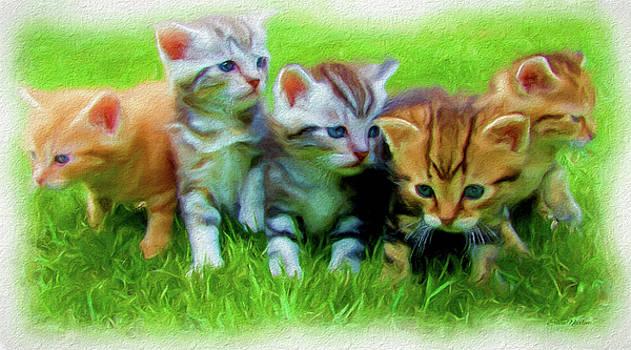 Kittens - Painting by Ericamaxine Price