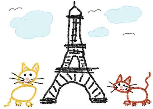 Cheryl Hall - Kitties In Paris 1