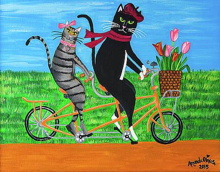 Kitty Cat Outing by Amanda Johnson