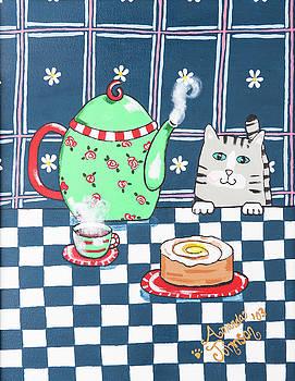 Kitty Cat Tea Time by Amanda Johnson