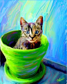 Kitty in the Pot by Karen Derrico