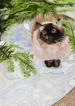 Kitty Under The Christmas Tree by Marcella Morse