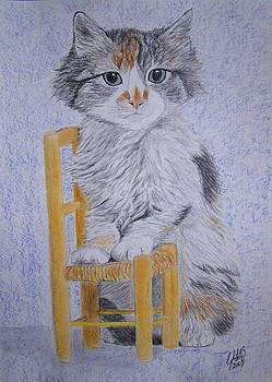 Kitty with chair by Cybele Chaves