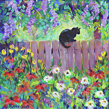 Kitty's Fence by Peggy Johnson by Peggy Johnson