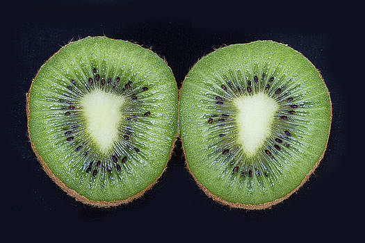 Kiwifruit On Black by James BO Insogna