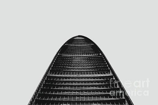 KK100 Shenzhen Skyscraper Art Grey by Marco Toscani
