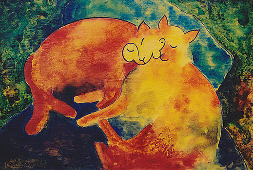 Klee's Sleeping Cats by Eve Riser Roberts