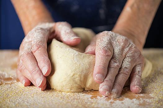 Kneading Dough by Steve Gadomski