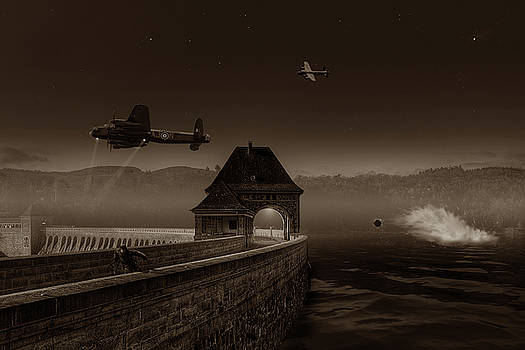 Knights Last Chance - Sepia by Mark Donoghue