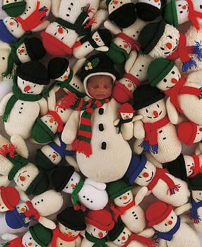 Knitted Snowman by Anne Geddes
