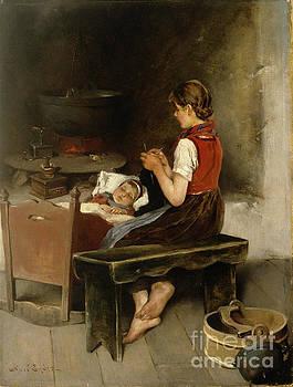 Knitting gir by Axel Ender
