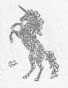 Knotty Unicorn by Sandy Jasper