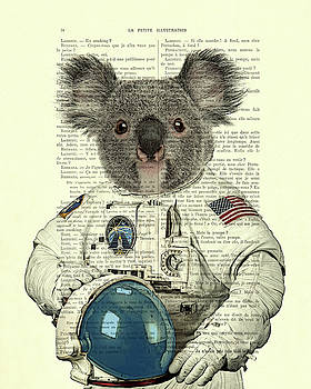 Koala in space illustration by Madame Memento