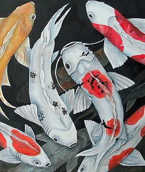 Koi 9 Fish by Nicole Werth