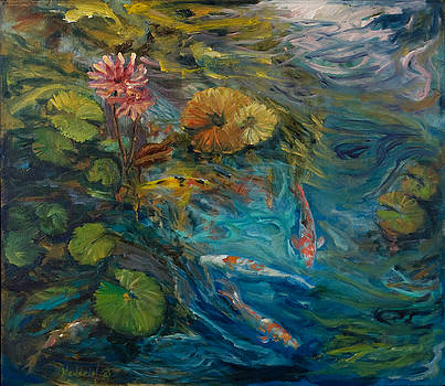 Koi and Lilies by Rick Nederlof