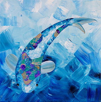 Koi Blue by Shiela Gosselin