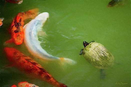 Koi fish and turtle 5031 imps. jpg by Fritz Ozuna