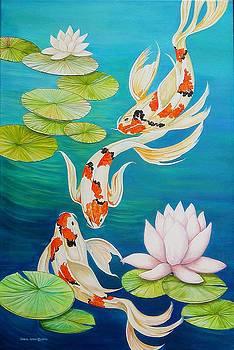 Koi Fish Pond by Carol Sabo