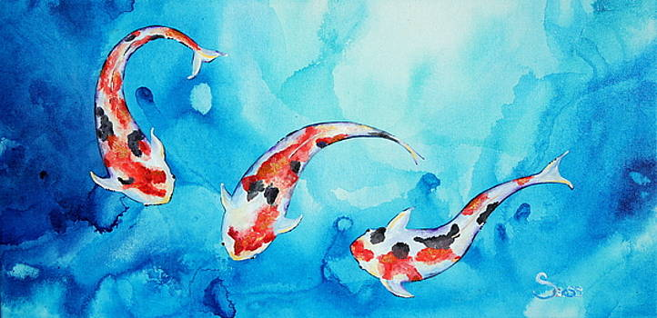 Koi Fish by Shiela Gosselin