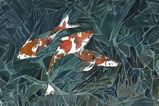 Koi fish trio by Garima Srivastava