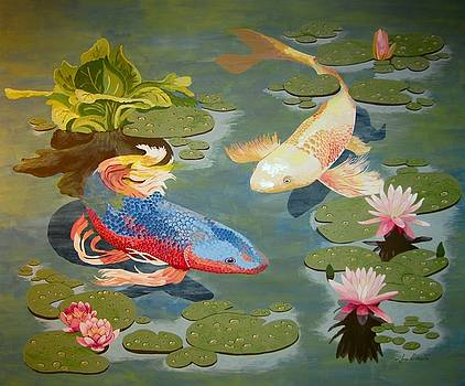 Koi II by Jennifer  Donald