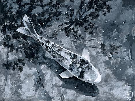 Koi in Greyscale by Brandy Woods