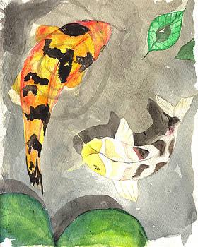 Koi in Shadows by Nicole Werth