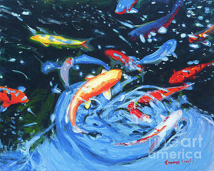 Koi in the Pond by Candace Lovely